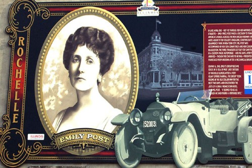 Lincoln Highway Mural of Emily Post